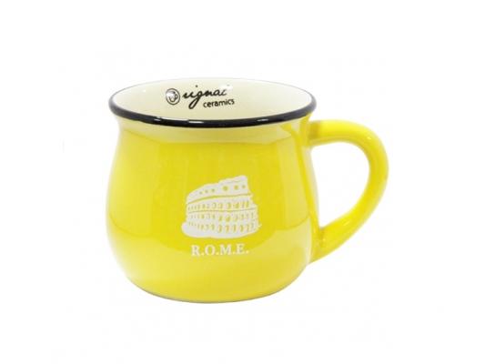 Чашка кувшин керамическая Zakka, желтая, 250 мл. R.O.M.E. Рим фото 1