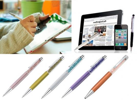 Ручка со стразами Crystal + стилус фото