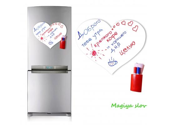 """Магнитная доска на холодильник """"Love"""" в подарочном тубусе фото"""