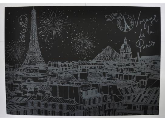 Скретч-картина Ночной Париж