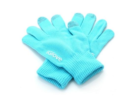 Перчатки для iРhone iGloves Голубые фото