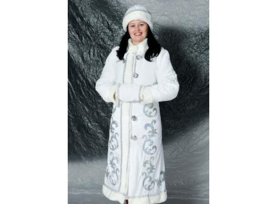 Костюм для взрослых Снегурочка Белый фото