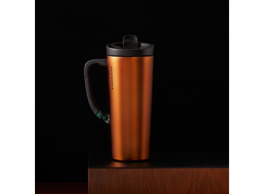Термокружка с клипсой Orange Starbucks 453 мл фото