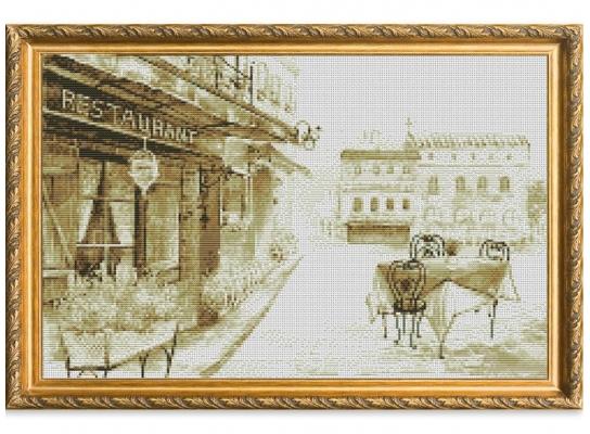 Набор для вышивки картины Летняя Терраса 58х39см фото