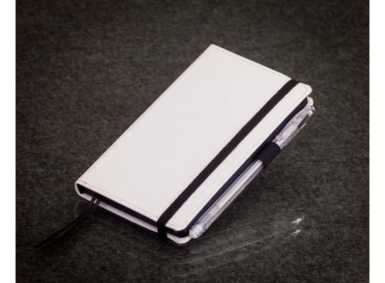 Блокнот с черной бумагой Белый мини фото