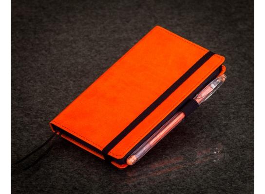 Блокнот с черной бумагой Апельсин мини фото
