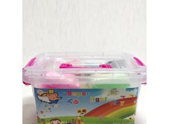 Тесто для лепки Детский пластилин Super Light Clay Niboshi 5D 24 цветов фото, цена, купить