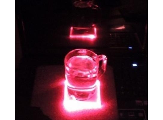Светодиодная подставка под бокал (чашку) фото