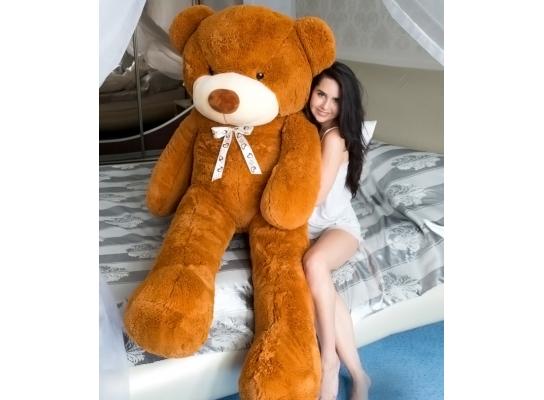 Плюшевый медведь Тедди 200 см Карамельный фото 3