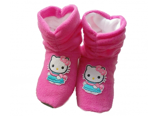Тапочки Kitty розовые фото