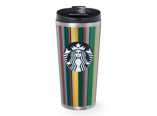 Термокружка в подарочной упаковке Полоски 474 мл Starbucks фото