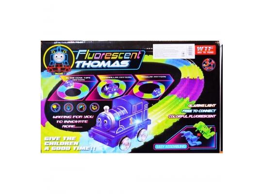 Меджик Трек светящийся с паровозиком Томас 72 детали фото