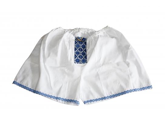 Мужские трусы - шорты Вышиванка синие фото