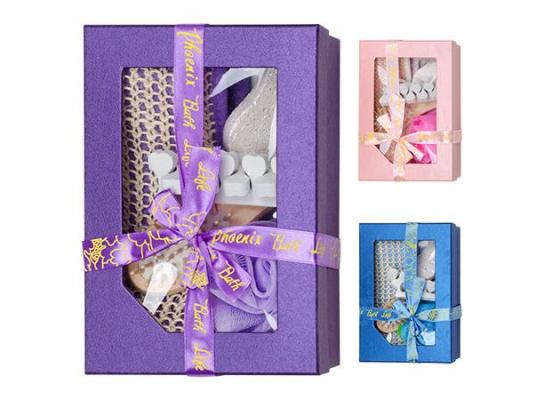 Набор подарочный банный в коробке, 6 предметов фото