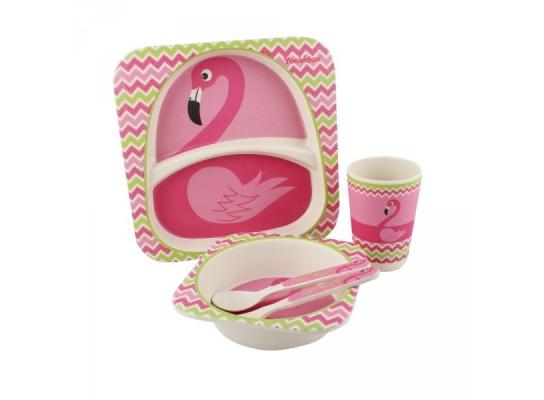 Набор детский Бамбук Розовый фламинго фото