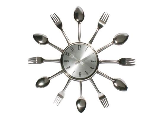 Настенные часы вилки - ложки Silver Fork фото