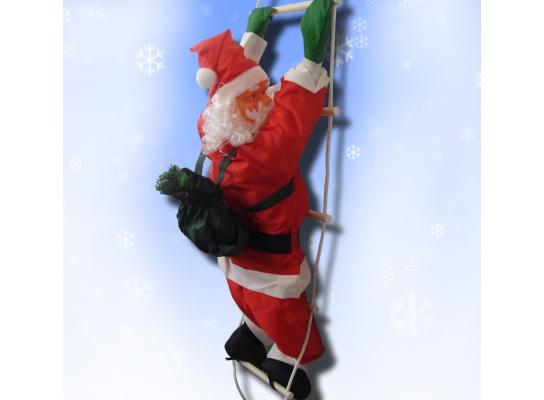 Новогодняя игрушка Подвесной Санта Клаус 20 см фото 4