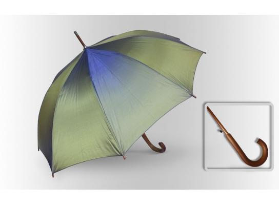 Зонт Антишторм трость Зелено - синий фото
