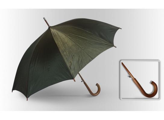 Зонт Антишторм трость Изумрудный фото