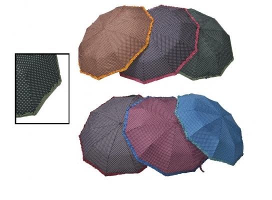 Зонт Антишторм с рюшами Ferrero Зеленый фото