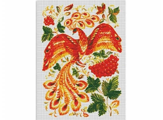Набор для вышивки картины Жар - Птица 69х54см фото