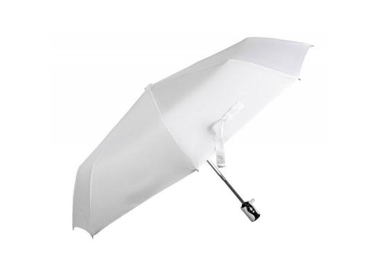 Зонт складной автоматический Белый Туман фото