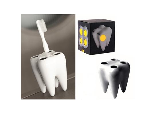 Подставка для щеток Керамический Зуб фото