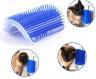Щетка - чесалка угловая для самогруминга кошек Self Groomer Синяя фото 2