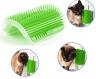 Щетка - чесалка угловая для самогруминга кошек Self Groomer Зелёная фото 2