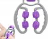 Кольцевой роликовый массажер для рук, ног и шеи Фиолетовый фото
