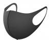 Трехслойная защитная маска многоразовая темно-серая фото