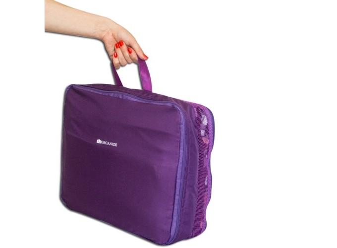 307537973bec ... фото Дорожные сумки-органайзеры в чемодан ORGANIZE фиолетовые 5 шт,  купить, цена, фото