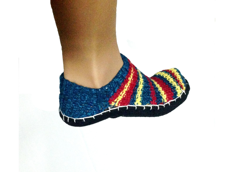 Вязание тапочки носочки